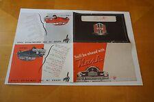 "1946 Nash 600 & Ambassador Automobile Fold Out Brochure 17"" x 22"" GD/VG"