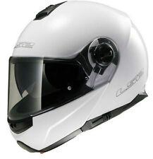 LS2 FF325 STROBE FULL FACE FLIP FRONT MOTORCYCLE CRASH HELMET GLOSS WHITE