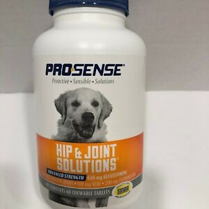 Hip Joint Tablets Dogs Glucosamine Advanced Strength Prosense 60 Chewable Opened