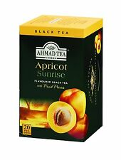 Ahmad Apricot Sunrise 6 Boxes of 20 Tea Bags   Free UK Delivery
