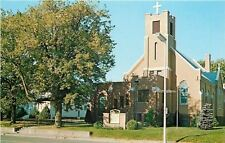 Cumberland Wisconsin~Augustana Lutheran Church~LCA~1960s Postcard