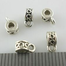 100pcs Tibetan Silver Connectors Spacer Bail Beads Charms 3x4x6.5mm