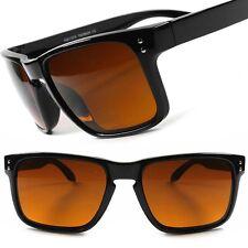 Classic Vintage Retro Amber Lens Blue Blocker Driving Outdoor 80s 90s Sunglasses