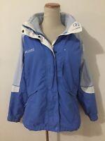 Columbia Core Interchange 3-in-1 Winter Jacket & Zip-In Fleece Liner Blue Sz L