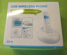 Cordless Wireless Handfree USB VoIP Phone for Skype @off1