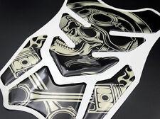 Motorcycles Gas Tank Pad Protector Skull Emblem Decal Harley Honda Yamaha Suzuki