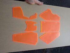 1/5 Baja HPI 5B Buggy FRONT and REAR Fluorescent Orange Windows Windshield USA