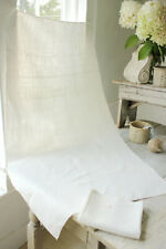 Pair of Antique French linen towels hand/bath cloth Ad monogram early 1800's