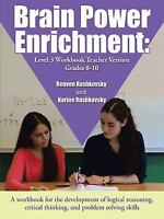 Brain Power Enrichment: Level 3 Workbook Teacher Version Grades 8-10 (Paperback