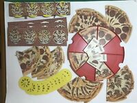 1974 Pizza Pie Milton Bradley Board Game PARTS ONLY Tray Cards Yummy Rummy