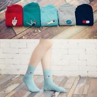 Cool Cartoon Design Harajuku Candy Color Women Girls Casual Cute Warm Socks