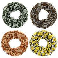 Tuch Halstuch mit Smiley Muster mehrfarbig in Loopform Loopschal Must-Have