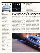1999 2000 Mercedes Benz S500 Original Car Review Print Article J608
