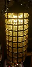 Vintage Hanging Lamp Nautical Amber Bubble Glass Working Lamp