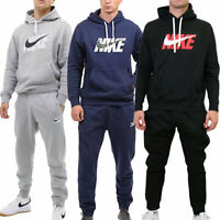 Nike New Mens Swoosh Logo Hoodie Jogger Full Tracksuit Black Grey Navy S M L XL