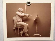 """Seigbert Reinhard """"Violinist"""" Lithograph Art Poster Print 1979 13 x 16"""