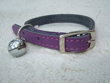 Cats Leather Kitten Collar Pink Blue Red Brown Black Safety Elastic Purple