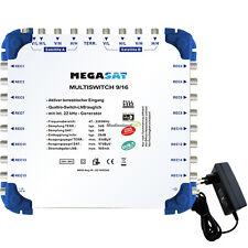 Megasat Sat Multischalter 9/16 - 2 Satelliten / 16 Teilnehmer Multiswitch