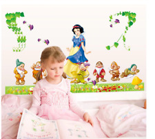 Snow White Princess Wall Sticker Cartoon Princess Wall Decal Removable 60x90cm