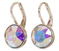 Swarovski Elements Crystal Aurore Bella Mini Pierced Earrings Rhodium 7173y