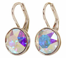 Swarovski Elements Crystal Aurore Bella Mini Pierced Earrings Rhodium 7173w