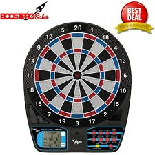 ELECTRONIC DART BOARD 15.5 Inch Target Face 6 Soft Tip Darts 43 Games 8 Players