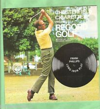 GOLF INSTRUCTION FLEXIBLE 33rpm RECORD - FRANK PHILLIPS, LONG IRON PLAY