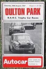 Oulton Parque CIAB Trofeo las carreras de coches programa 26 Agosto 1967