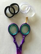 4X Barber Hair Shears Scissors Finger Rings Grips Inserts 2 sets SIZE X- LARGE