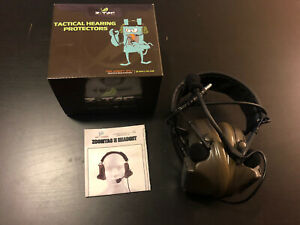 softair headset tomtac peltor comtac ii 2 mic boom radio design od green