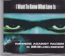 Rappers Against Racism-I Want To Know What Love Is cd maxi single