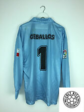 Racing Santander Ceballos #1 02/03 * * Gk Match Worn Camiseta De Fútbol Jersey (XL)