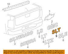 GM OEM Bed / Fender-Emblem Badge Nameplate 15825695