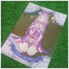 Event Limited!! Bushiroad Re: ZERO Clear File Folder -Emilia's Birthday- A