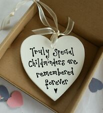 Childminder Thank you Leaving . Christmas . Birthday Gift Present . Heart sign