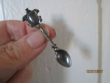 vintage Victorian style Spoon Vintage Pin Brooch STERLING Silver Tiny small 2.2""