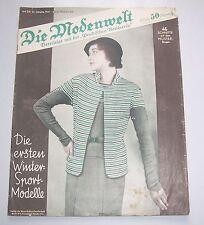 Die Modenwelt Heft 24 / 1931 mit Schnittmusterbogen Modezeitschrift Handarbeit !