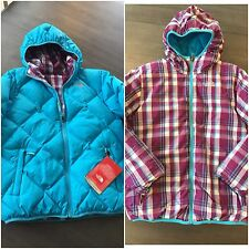 NWT North Face Reversible Moon Doggy Puffy 550 Down Jacket Girls 18 Womens S Ski