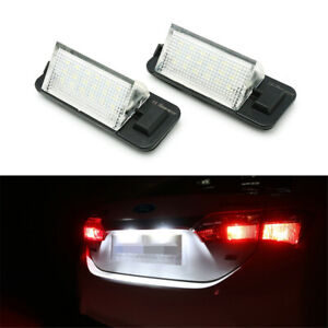 2x LED License Plate Lights Lamp For BMW 3 Series E36 1992-1999 320 323 M3