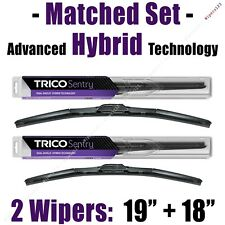 "Matched Set of 2 Hybrid Wipers 19""+18"" Trico Sentry Wiper Blades - 32-190 32-180"