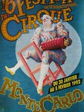 Affiche cirque / 16ème Festival international du cirque /  MONTE-CARLO 1992