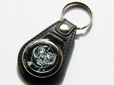 More details for motorhead heavy metal band quality leather and chrome keyring