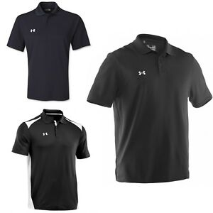 Under Armour Men's NEW Team Color-Block Polo Tee Loose Fit Golf T-Shirt