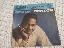 BROOK BENTON FOOLS RUSH IN/SOMEDAY YOU'LL WANT ME MERCURY WITH PICTURE SLEEVE