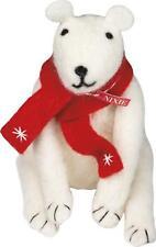 Primitive Country Folk-Art Felted Wool Nixie Polar Bear