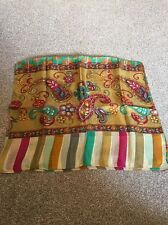 Multicoloured Patterned Silk Scarf
