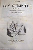 HISTOIRE de DON QUICHOTTE + GIL BLAS par Le Sage +3 racconti 1850 old book libro