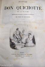 antico libro HISTOIRE de DON QUICHOTTE + GIL BLAS par Le Sage +3 racconti 1850