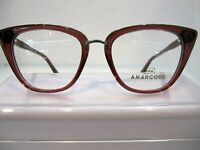 NEW AMARCORD AM 019 BROWN COL.2 PLASTIC EYEGLASSES FRAME SIZE 51-17-140 ITALY