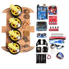 Avoid Tracking Motor 4WD Smart Robot Car Chassis DIY Kit Ultrasonic Module
